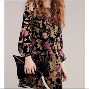 NWT Eliza J Velvet Print Floral Shift Dress